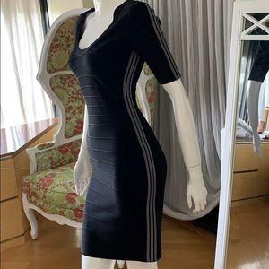 Herve Leger super slimming little black dress
